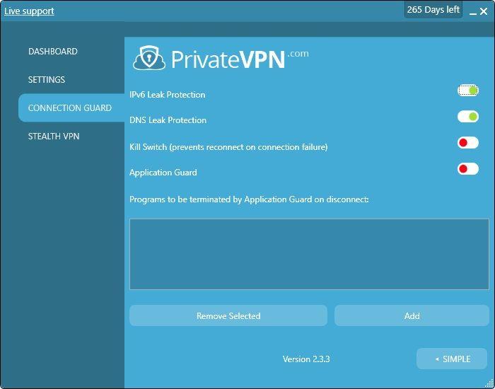 privatevpn-recensione-app-protezioni-windows10