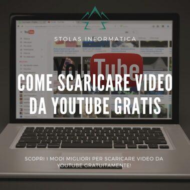 Come scaricare video youtube gratis - copertina