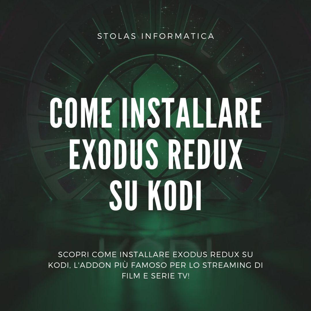 come installare exodus redux kodi addon