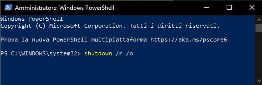 accedere-menu-impostazioni-avvio-windows-powershell