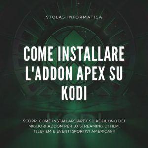 come installare addon apex kodi
