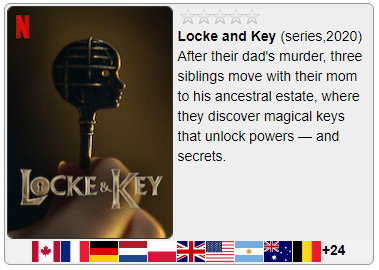 Catalogo mondiale netflix VPN locke and key