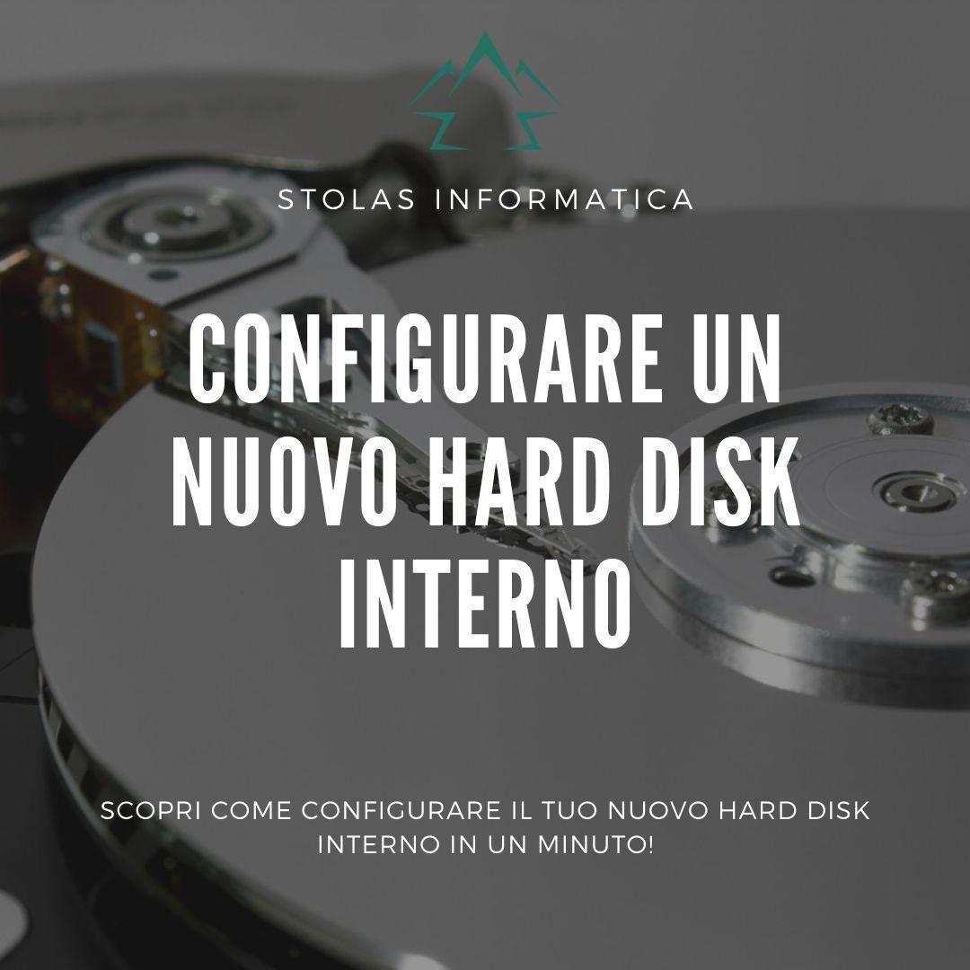 Come configurare hard disk interno
