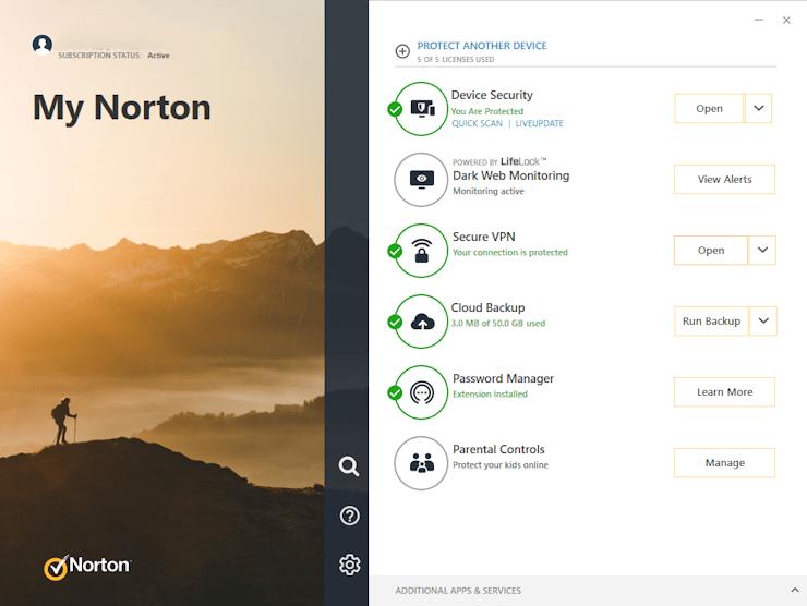 My Norton - Caratteristiche - Recensione Antivirus