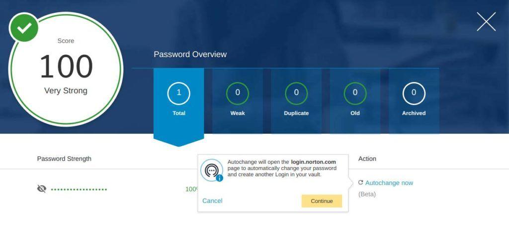 Norton 360 Password Manager recensione