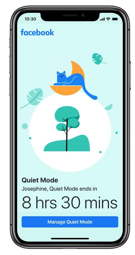 Facebook modalità silenziosa smartphone