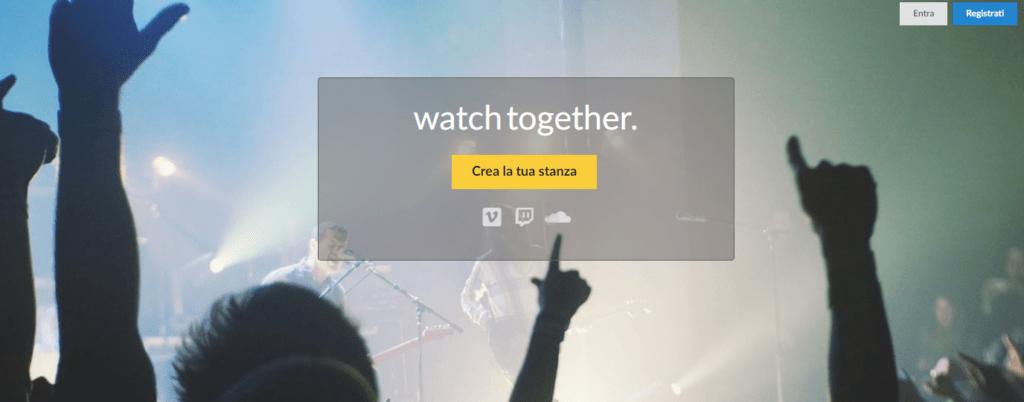 Guardare film a distanza - Watch2gether