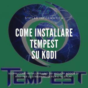 Installare addon Tempest Kodi