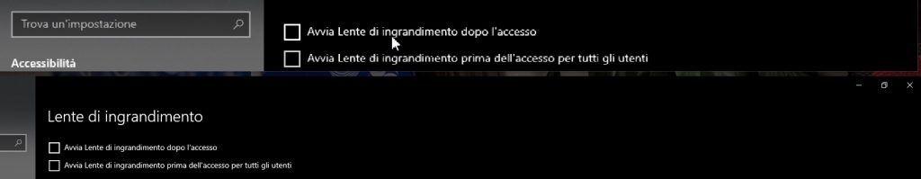 Lente ingrandimento Windows - Ancorato