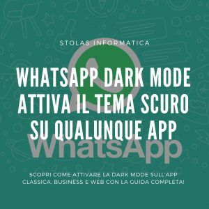 Tema Scuro Whatsapp Guida