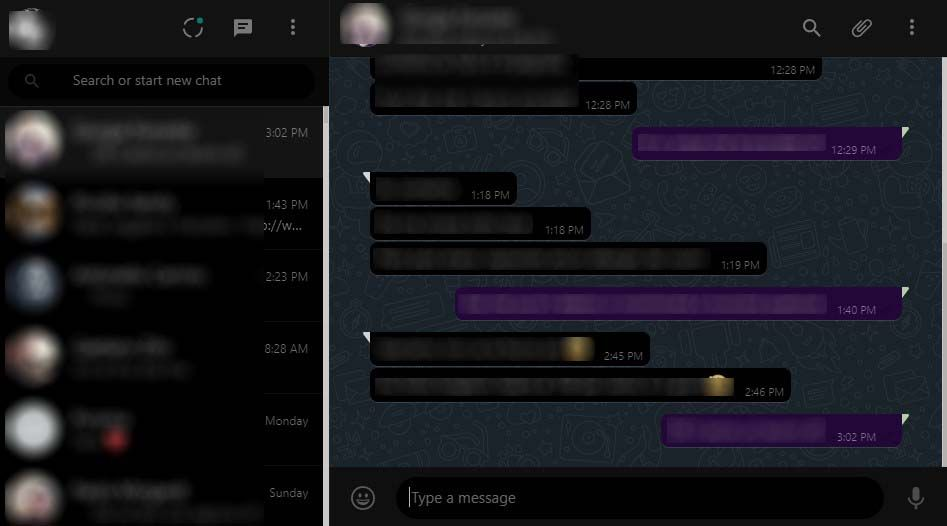 Whatsapp Web Scuro - Dark Mode