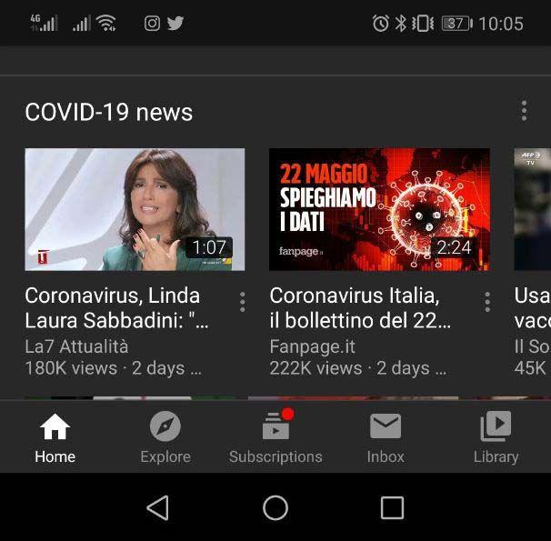YouTube App - Tema Scuro - 5