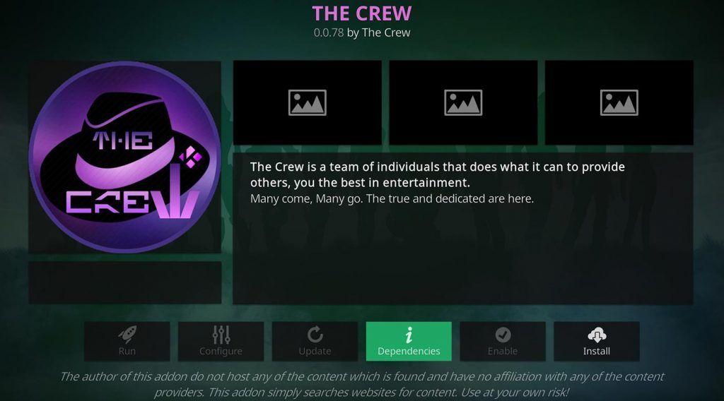 The Crew Installazione Kodi Addon