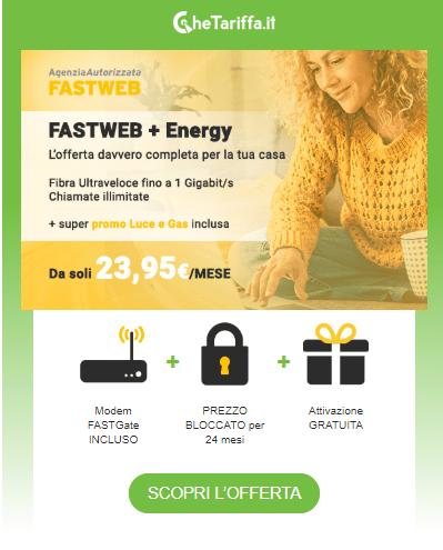 Telefonia e luce in una sola bolletta con Fastweb Energy!