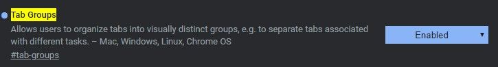 Gruppi schede Chrome - Come attivarle
