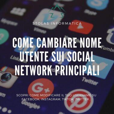Come cambiare nome utente social network cover