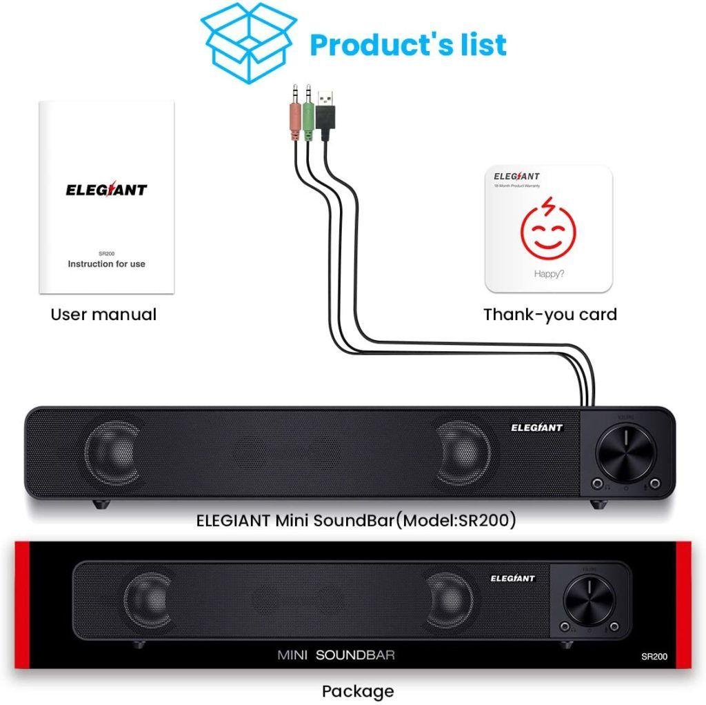 Elegiant SR200 Contenuti Confezione Soundbar
