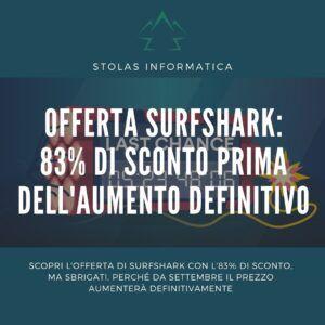 Offerta Surfshark agosto settembre - Cover