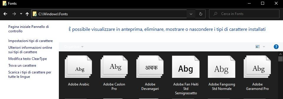 cartella-windows-fonts