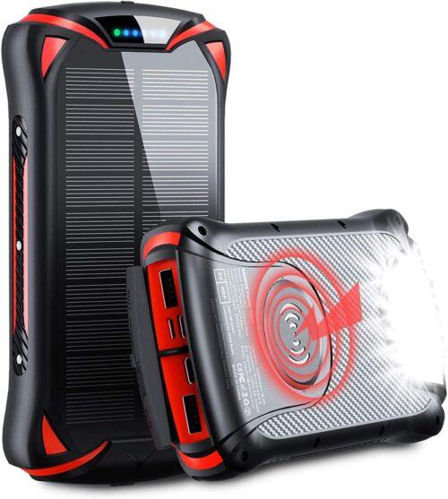 Aikove Wireless Power Bank 30000mAh con pannello solare