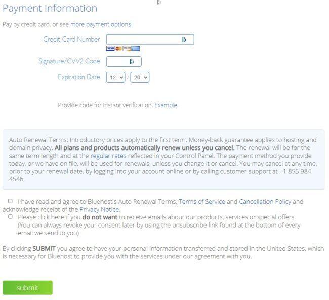 bluehost-pagamento-carta-hosting-condiviso