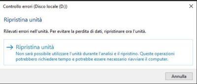 check-disk-ripristina-unita
