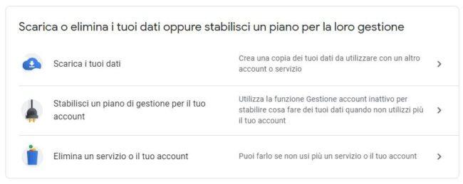 account-google-elimina-servizio-dati