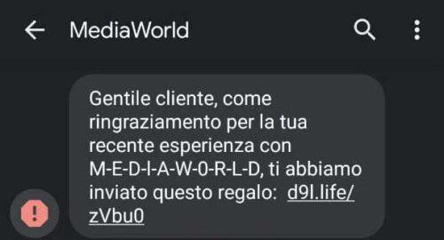 phishing-mediaworld-ringraziamento-recente-esperienza