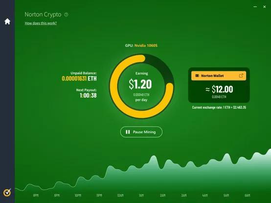 Il celebre antivirus aggiungerà la possibilità di minare cryptovalute...